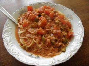 sos oliwkowy do makaronu