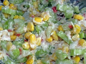 sałatka seler+jabłko+kukurydza