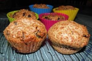 muffinki z suszonymi śliwkami