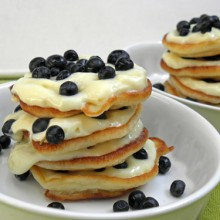 torciki pancakes z jagodami