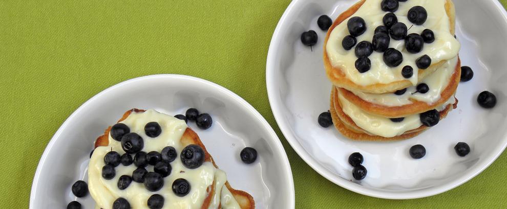 Torciki czyli pancakes z jagodami