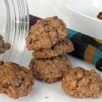 Smaczne ciasteczka z czekoladą i płatkami owsianymi
