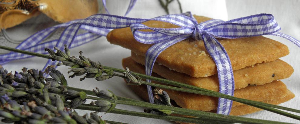Maślane ciasteczka z lawendą