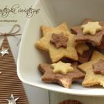 Dwukolorowe ciasteczka świąteczne