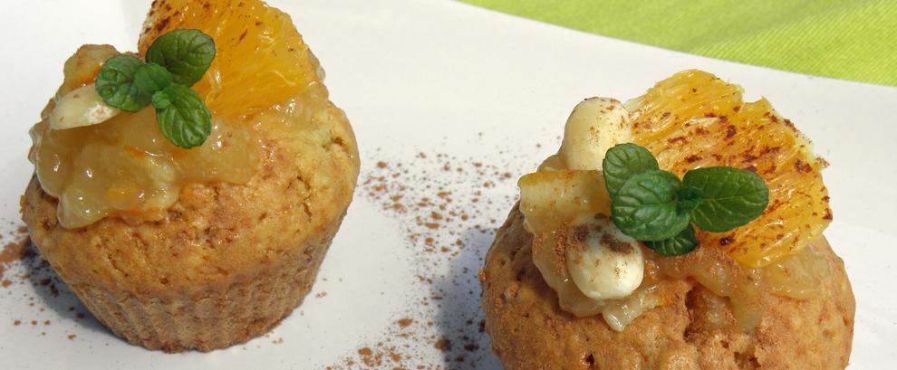 Muffiny migdałowe z pomarańczą