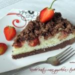Kruche ciasto z masą grysikową i truskawkami
