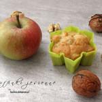 Muffinki jesienne - z jabłkami i orzechami włoskimi