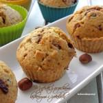 Muffinki z orzechami laskowymi i czekoladą